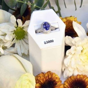White Gold Tanzanite and Diamond Ring $3000