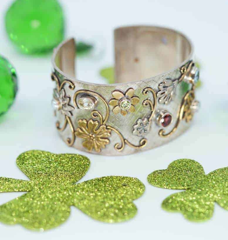 Sara Blaine peridot and multi-gemstone cuff