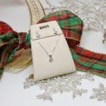 Princess Diamond Necklace and Earrings Set