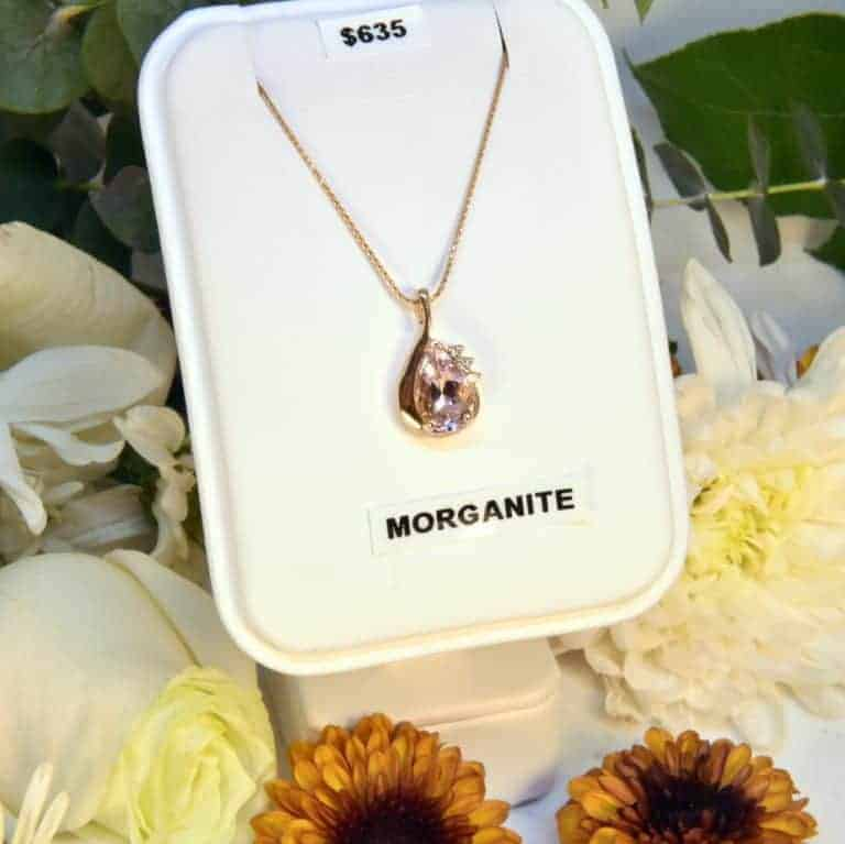 Rose Gold Morganite and Diamond Necklace