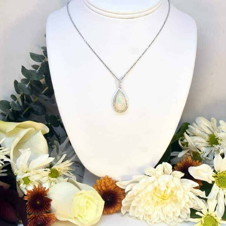 Ethiopian Opal and Diamond Necklace