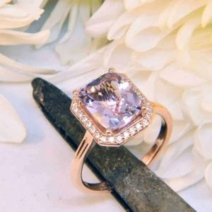 Rose Gold Morganite and Diamond Ring