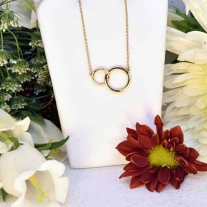 Yellow Gold Interlocking Circle Necklace