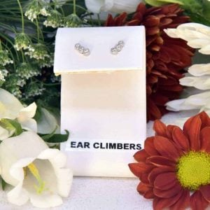 White Gold Diamond Ear Climber Earrings