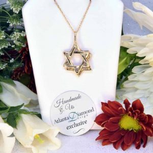 Yellow Gold Jewish Star Necklace
