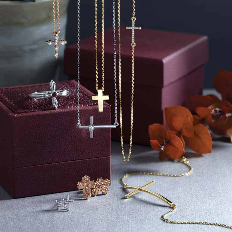 Cross Necklaces, Rings, and Earrings