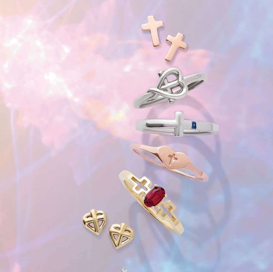 Cross Rings and Earrings
