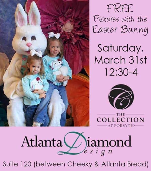 Free Pictures with the Easter Bunny at The Collection Forsyth