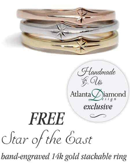Star of the East Gold Stackable Ring