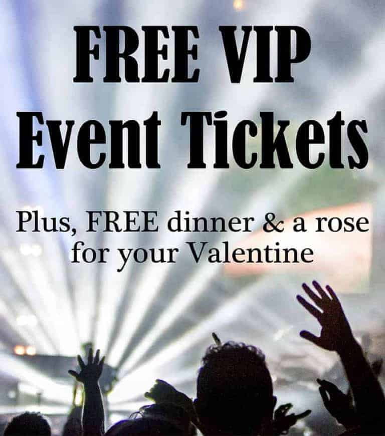 FREE VIP Event Tickets for Valentine's Day
